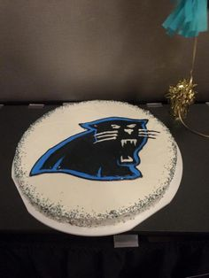 carolina panthers football wedding grooms cake cookie cake - Charleston Crafted