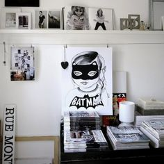 Batgirl print by Mini & Maximus {BODIE and FOU Exclusive}