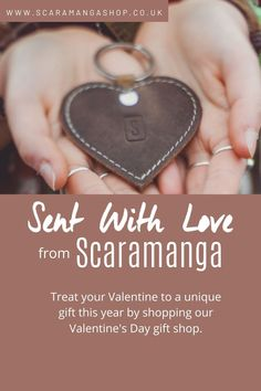 Treat your Valentine to a unique gift this year by shopping the Scaramanga Valentine's Day gift shop. #valentinesday #valentinesgiftideas #giftideasforher #giftideasforhim Vintage Valentines, Valentine Day Gifts, Lovers And Friends, Leather Gifts, Unique Gifts, Handmade Gifts, Leather Accessories, Treat Yourself, Thoughtful Gifts