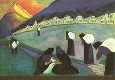 Marianne Werefkin, de zwarte vrouwen 1910