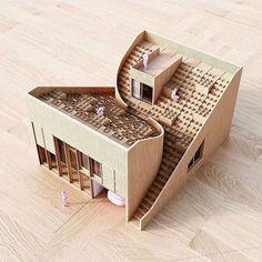 Ying yang house by @chrisprecht_penda . . .