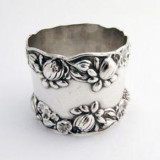 Pond Lilly Napkin Ring Gorham Sterling Silver