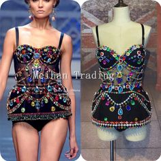 >> Click to Buy << Fashion Luxury Swimwear Rhinestones Colorful Outfit Women Celebrate Stones Costume Bling Catwalk Show Swimsuit Evening Wear  #Affiliate
