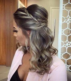 18 ideas for hair peinados medio wedding hairstyles Cute Hairstyles Updos, Prom Hairstyles For Short Hair, Wedding Hairstyles, Glamorous Hairstyles, Graduation Hairstyles, Medium Hair Styles, Short Hair Styles, Really Long Hair, Wedding Hair And Makeup
