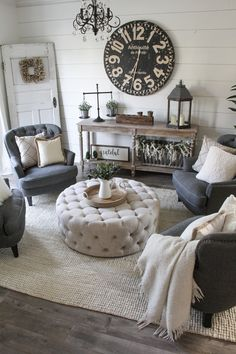 If you are looking for Farmhouse Living Room Design Ideas, You come to the right place. Below are the Farmhouse Living Room Design Ideas. Formal Living Rooms, My Living Room, Shabby Chic Formal Living Room, Living Room With Chairs, Modern Living, Cool Living Room Ideas, Classic Living Room, Small Living Rooms, Cozy Living
