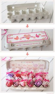 Egg carton 12 days of valentines. could make a good idea for an advent count down or even countdown to easter! Valentines Day Presents, Valentine Day Crafts, Be My Valentine, Valentine Ideas, Presents For Boyfriend, Boyfriend Gifts, Cute Gifts, Diy Gifts, Advent