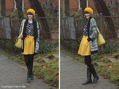 Lieblingsoutfit: Schwarz-Weiß liebt Gelb von Laura auf Tagträumerin - Mehr Farbe im Winter: Ganz wichtig und auch ein Vorhaben von mir für dieses Jahr! :)