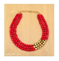 Red and Gold Statement Necklace by SparklyChicJewels on Etsy https://www.etsy.com/listing/155551036/red-and-gold-statement-necklace
