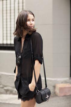 harper and harley lingerie à mostra - lingerie as outerwear - boudoir fashion #transparência #preto #sutiã