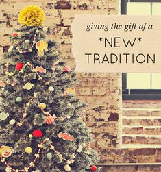 Give something meaningful this year: 10 ways (high + low tech) to give someone a no-buy NEW TRADITION gift #gift #nobuy #present #tradition #christmas