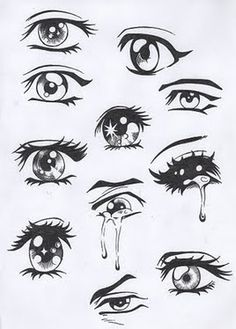 i like the different eyes and how they all are in different positions
