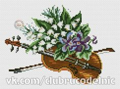 Symphony/Violin by Goblen Cross Stitch Music, Cross Stitch Embroidery, Cross Stitch Patterns, Hama Beads Disney, Cross Stitch Geometric, Hobbies And Crafts, Goblin, Nature Photography, Photo Wall