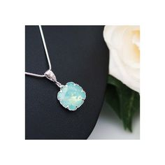 Sea Foam Mint Pacific Opal Swarovski Square Crystal Jewelry Set... ($53) ❤ liked on Polyvore featuring jewelry, earrings, mint green jewelry sets, mint green earrings, square earrings, crystal jewellery and earring jewelry