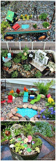 New Fairy Garden Ideas Diy Outdoor. Take Your Pick the top 50 Mini Fairy Garden Design Ideas Diy Garden Furniture, Fairy Furniture, Fairy Garden Houses, Gnome Garden, Diy Fairy Garden, Garden Terrarium, Succulents Garden, Garden Inspiration, Garden Ideas