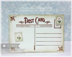 December 2014 New Release Showcase Day Two. Card by Karin Akesdotter featuring Vintage Postcards. Shop for our products here - waltzingmousestamps.com More design team inspiration here - http://wmsinspiration.blogspot.co.uk/2014/11/december-2014-new-release-showcase-day_30.html