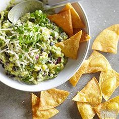 Pineapple-Black Bean Guacamole From Better Homes and Gardens, ideas and improvement projects for your home and garden plus recipes and entertaining ideas.