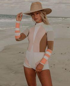 Carbon Footprint, Cynthia Rowley, Rash Guard, Beach Bum, Swimsuits, Swimwear, Color Blocking, Wetsuit, Swimming