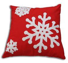"Secret Life(TM) Cotton Cushion Decorative Toss Pillow Case 18"" x 18"" Prefect Holiday & Gift (Red / Snowflake) Secret Life http://www.amazon.com/dp/B00PFUQKRM/ref=cm_sw_r_pi_dp_7CNYub0HR02M8"