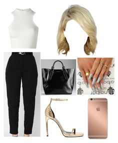 """""""Untitled #228"""" by stylesonlyy ❤ liked on Polyvore featuring Versace, Yves Saint Laurent, Burberry and Mura"""