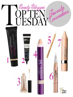 The best undereye concealers for covering up dark circles :: Amazing Cosmetics Concealer / IT Cosmetics Bye Bye Undereye Concealer / Smashbox Photo Op Under Eye Brightener / Urban Decay 24/7 Concealer Pencil / NYX Wonder Pencil / L'Oreal Magic Lumi / L'Oreal True match Concealer.