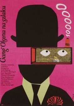 polish movie poster for a danish film by jerzy flisak, 1976
