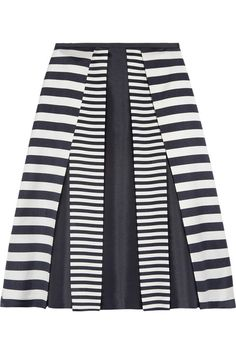 Pleated Wool and Silk-Blend Skirt by Michael Kors