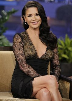Catherine Zeta-Jones... beautiful and magnetic in a black fitted design - love the hair and makeup!