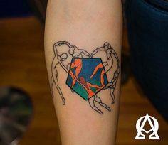 Henri Matisse Dance inspired tattoo