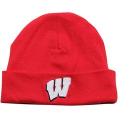 Top of the World Wisconsin Badgers Newborn   Infant Cardinal Knit Beanie 9ab2ba71c359