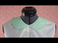 We demonstrate a professional way to sew in a flat collar. This technique is great for beginners. This tutorial utilizes both collar and facing pieces as the. Sewing Basics, Sewing Hacks, Sewing Tutorials, Sewing Crafts, Sewing Tips, Video Tutorials, Sewing Collars, Collar Pattern, Pattern Drafting