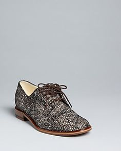 Robert Clergerie Lace Up Oxford Flats - Jasdi | Bloomingdale's