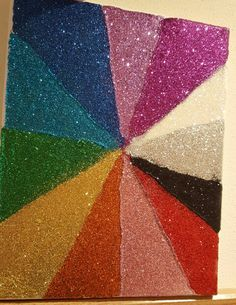 Glitter canvas art