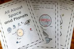Free, printable solar system book and other astronomy resources for kids 1st Grade Science, Kindergarten Science, Science Classroom, Teaching Science, Space Activities, Science Activities, Science Ideas, Educational Activities, Sistema Solar