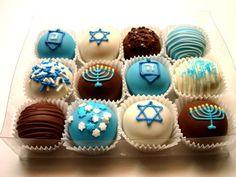 Hanukkah truffles! We love this concept for cupcake decorations.