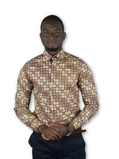 Items similar to African Clothing Fitted Dress Shirts, Shirt Dress, Style Fashion, Mens Fashion, Pocket Square, Ankara, African Fashion, Afro, Shirt Style