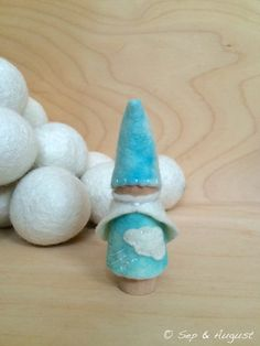 Windy  Wooden Birthday Ring Peg Gnome  Waldorf and by SepAndAugust