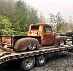 rat rod trucks and cars Old Pickup Trucks, Hot Rod Trucks, Gm Trucks, Cool Trucks, Truck Drivers, Diesel Trucks, Bagged Trucks, Lowered Trucks, Dually Trucks