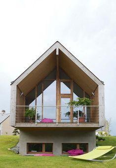 Une maison sur 2 niveaux, construite pour être économique