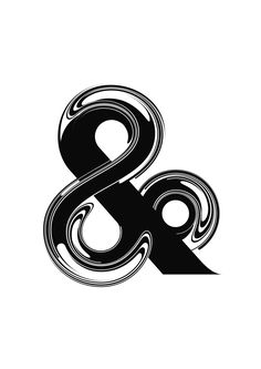 Black and white ampersand / Liquid ink / esperluette Cool Typography, Typography Letters, Graphic Design Typography, Lettering Design, Logo Design, Type Design, Japanese Typography, Typography Poster, Typographie Logo