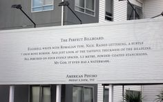 The Perfect Billboard (American Psycho)