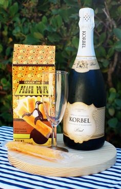 Trader Joes Frozen Peach Pop Champagne Cocktail