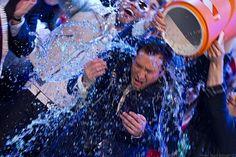 Jimmy gets a Gatorade shower.