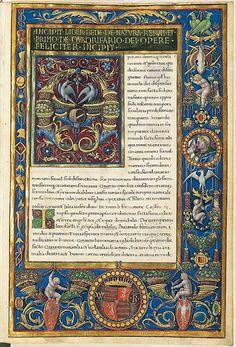 Illuminated manuscript by Lucius Annaeus Seneca. (1490)