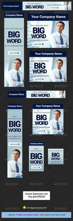 Business Banner Design Template  #GraphicRiver