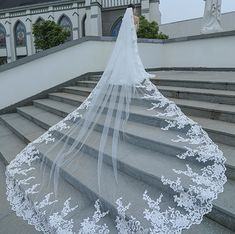 Cathedral Lace Tulle Wedding Veil Bridal Veil sold by Onlyforbrides. Shop more products from Onlyforbrides on Storenvy, the home of independent small businesses all over the world. Bride Veil, Lace Bride, Tulle Wedding, Dream Wedding Dresses, Long Wedding Veils, Long Veils, Wedding Suits, Garden Wedding, Cathedral Wedding Veils