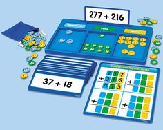 Children master addition and subtraction skills using Lakeshore's Hands-On Regrouping Kits!