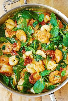 Tortellini with Shrimp and Veggies