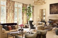 This is such a gorgeous room - rich, layered and pulled together.  Love it - I'd change the palette a bit to be lacking in grey and then I'd move right in.  A Gracious Home by Suzanne Kasler