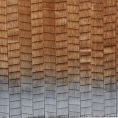 Japanese wooden shingles by Alexander Lamont Porch Gable, Ice Dam Removal, Japan Interior, Japanese Wall, Shingle Siding, Wood Shingles, Building Concept, Timber Cladding, Tiles Texture