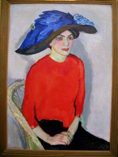 Jan Sluyters - Vrouwen portret in rood (1912)